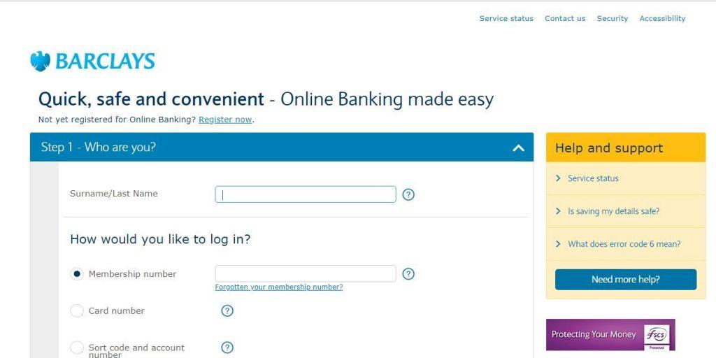 Barclays Bank Online Login