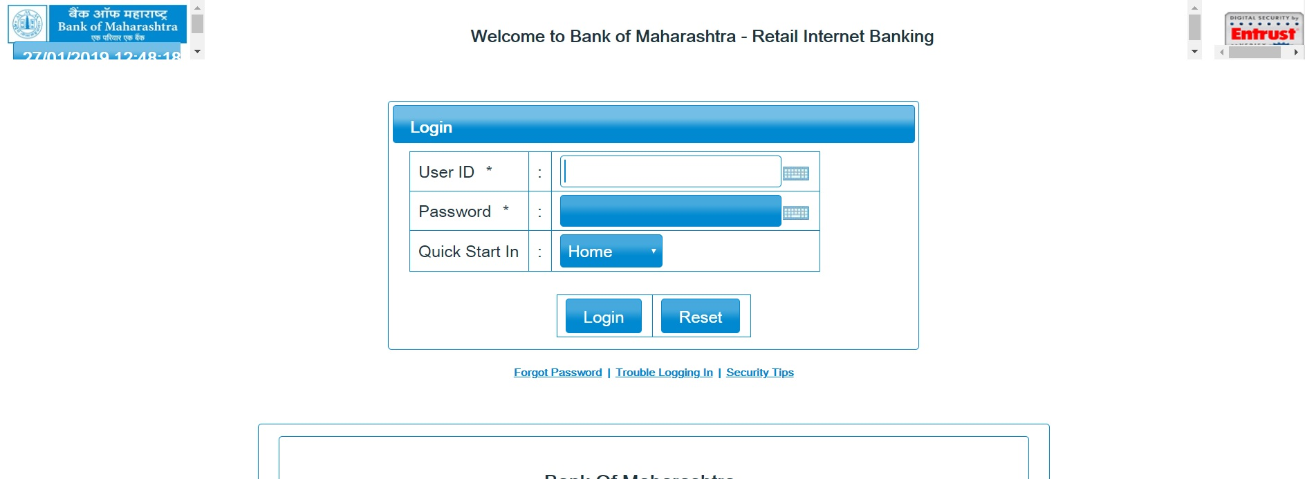 Bank of Maharashtra Online Banking Login