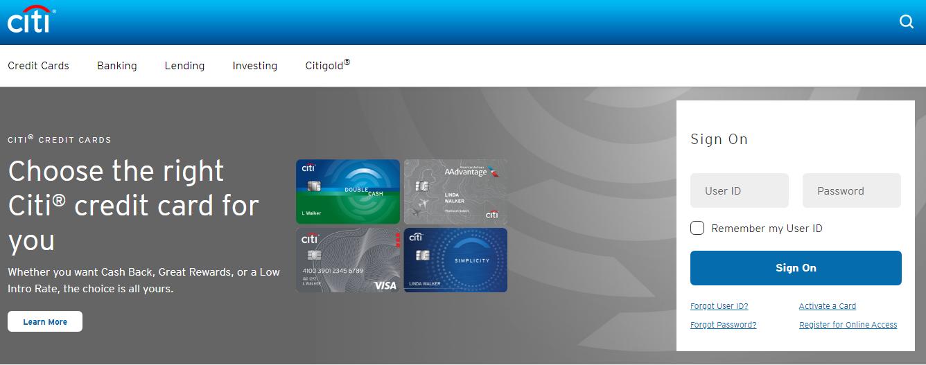 Citibank Canada Online Banking Login