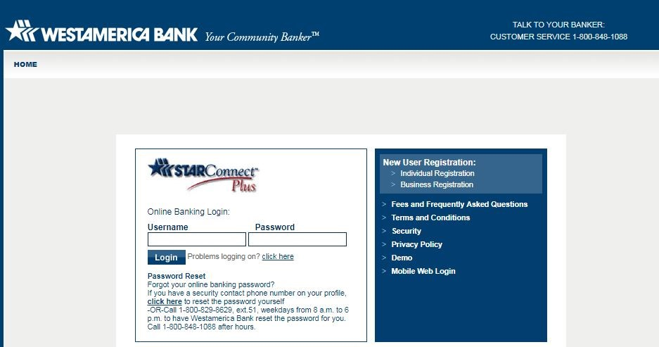 Westamerica Bank Online Login and Reset