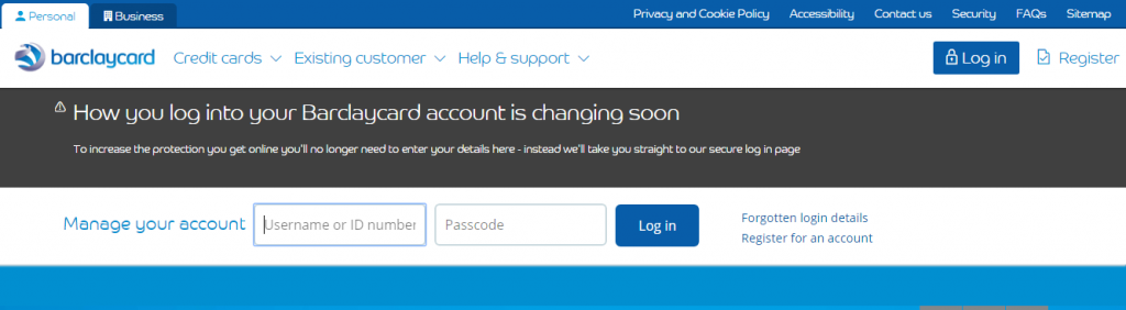 Barclays Bank Credit Card Login