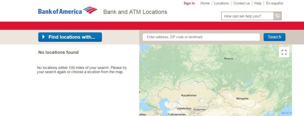 Bank Of America ATM Near You