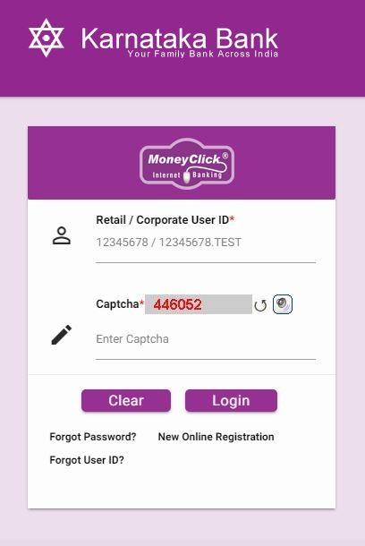 Karnataka Bank Online Banking Login and Reset