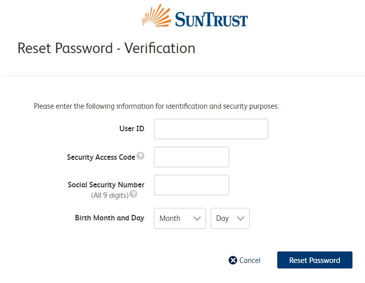 Solve SunTrust Bank Online Login Issues