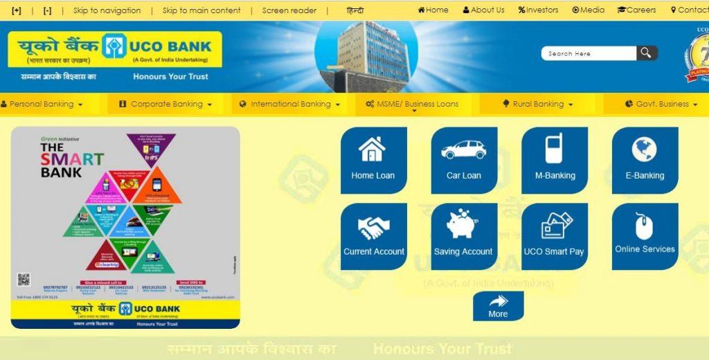 UCO Bank Online Login