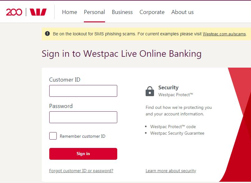 Westpac Bank Online Banking Login